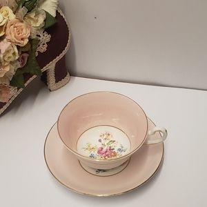 Gorgeous Vintage Pink Rosina Cup and Saucer